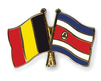 Special Offer Crossed Flag Pins Belgium-Costa-Rica