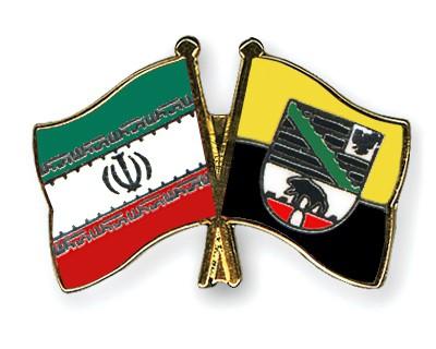 Crossed Flag Pins Iran-Saxony-Anhalt