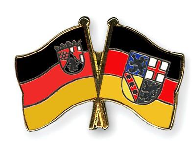 Crossed Flag Pins Rhineland-Palatinate-Saarland