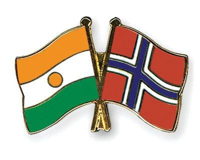 Crossed Flag Pins Niger-Norway