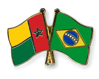 Crossed Flag Pins Guinea-Bissau-Brazil