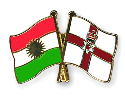 Crossed Flag Pins Kurdistan-Northern-Ireland