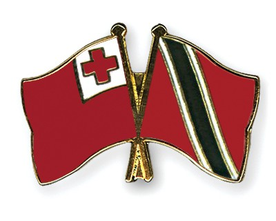 Crossed Flag Pins Tonga-Trinidad-and-Tobago