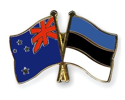 Crossed Flag Pins New-Zealand-Estonia