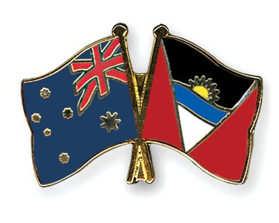 Crossed Flag Pins Australia-Antigua-and-Barbuda