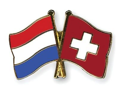 Special Offer Crossed Flag Pins Netherlands-Switzerland