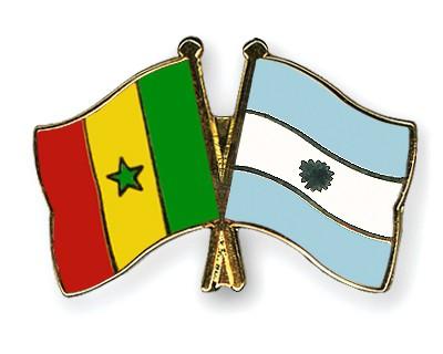 Crossed Flag Pins Senegal-Argentina