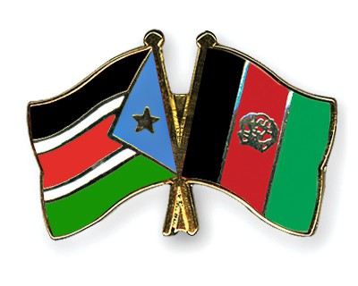 Crossed Flag Pins South-Sudan-Afghanistan