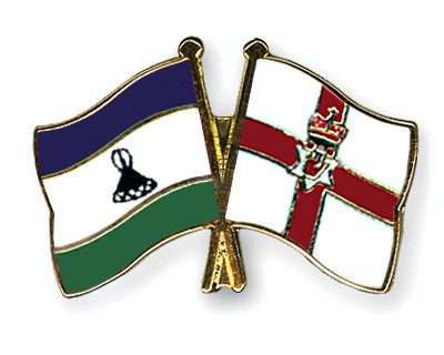 Crossed Flag Pins Lesotho-Northern-Ireland