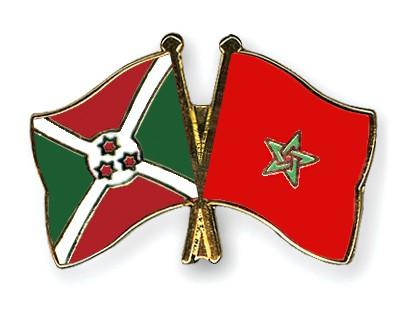 Crossed Flag Pins Burundi-Morocco