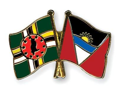 Crossed Flag Pins Dominica-Antigua-and-Barbuda
