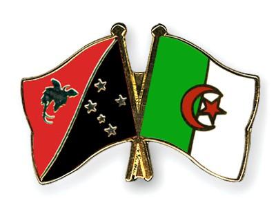 Crossed Flag Pins Papua-New-Guinea-Algeria