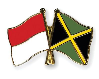 Crossed Flag Pins Indonesia-Jamaica