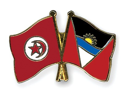 Crossed Flag Pins Tunisia-Antigua-and-Barbuda