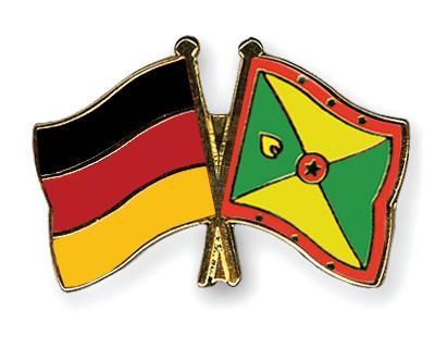 Crossed Flag Pins Germany-Grenada