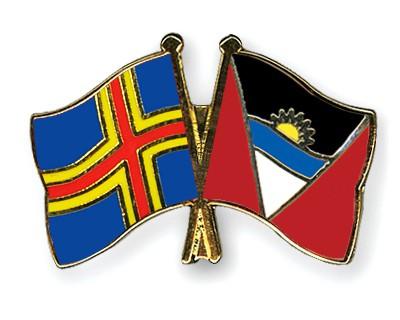 Crossed Flag Pins Aland-Antigua-and-Barbuda