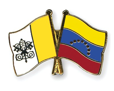 Crossed Flag Pins Vatican-City-Venezuela