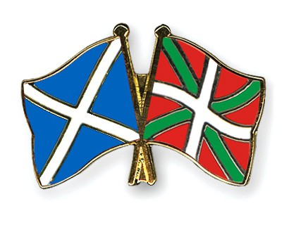 Special Offer Crossed Flag Pins Scotland-Basque Country