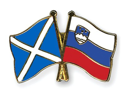 Crossed Flag Pins Scotland-Slovenia