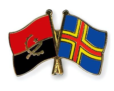 Crossed Flag Pins Angola-Aland