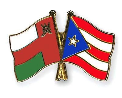 Crossed Flag Pins Oman-Puerto-Rico