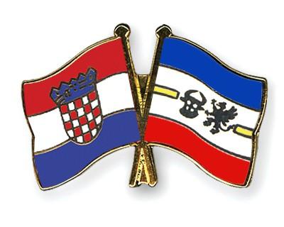Crossed Flag Pins Croatia-Mecklenburg-Western-Pomerania