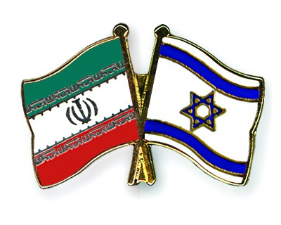 Crossed Flag Pins Iran-Israel