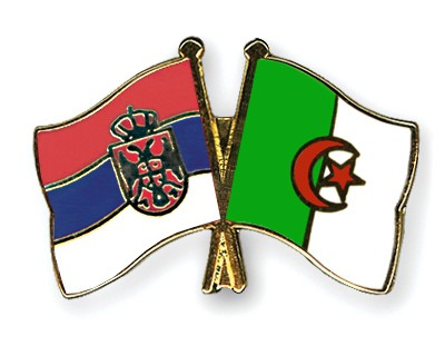 Crossed Flag Pins Serbia-without-Crest-Algeria