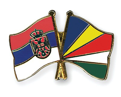 Crossed Flag Pins Serbia-without-Crest-Seychelles