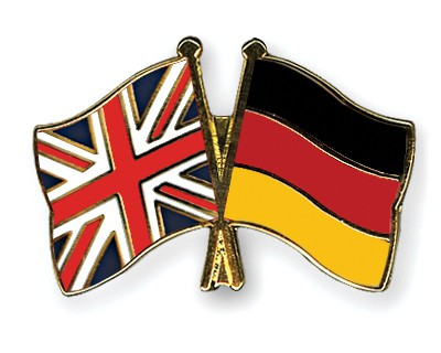 Crossed Flag Pins Great-Britain-Germany