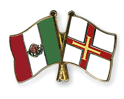 Crossed Flag Pins Mexico-Guernsey