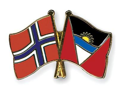 Crossed Flag Pins Norway-Antigua-and-Barbuda