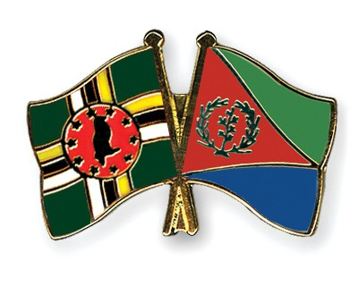 Crossed Flag Pins Dominica-Eritrea
