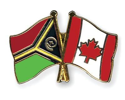 Crossed Flag Pins Vanuatu-Canada