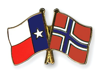 Crossed Flag Pins Texas-Norway