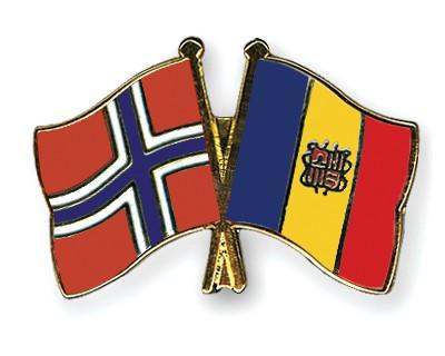 Crossed Flag Pins Norway-Andorra