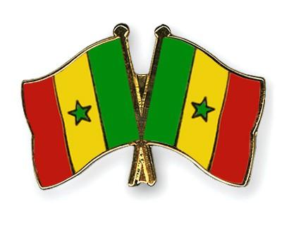 Crossed Flag Pins Senegal-Senegal