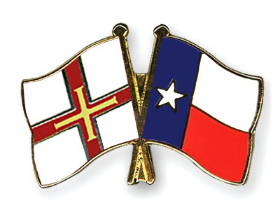 Crossed Flag Pins Guernsey-Texas