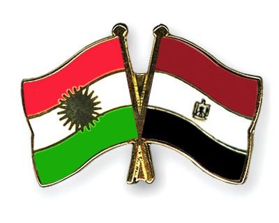 Crossed Flag Pins Kurdistan-Egypt