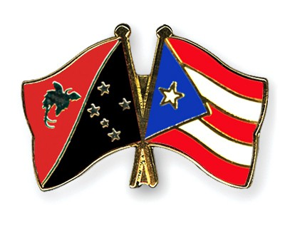 Crossed Flag Pins Papua-New-Guinea-Puerto-Rico