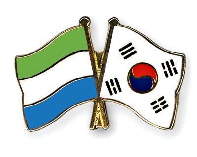 Crossed Flag Pins Sierra-Leone-South-Korea