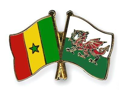 Crossed Flag Pins Senegal-Wales
