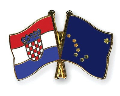 Crossed Flag Pins Croatia-Alaska