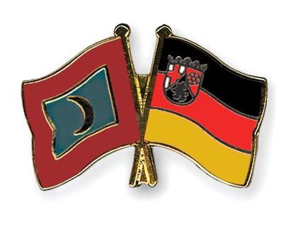 Crossed Flag Pins Maldives-Rhineland-Palatinate