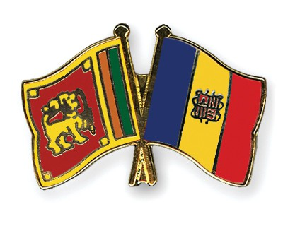 Crossed Flag Pins Sri-Lanka-Andorra