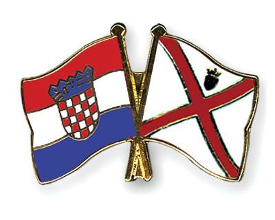Crossed Flag Pins Croatia-Jersey