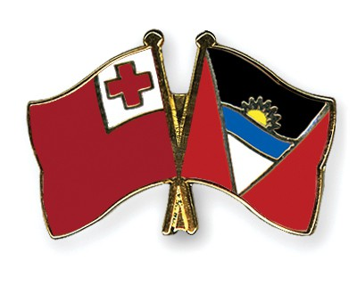 Crossed Flag Pins Tonga-Antigua-and-Barbuda