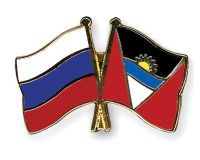 Crossed Flag Pins Russia-Antigua-and-Barbuda