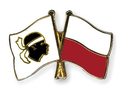 Crossed Flag Pins Corsica-Poland