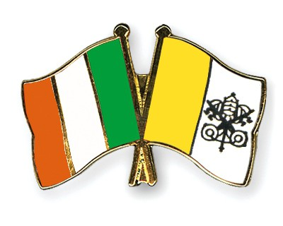 Special Offer Crossed Flag Pins Ireland-Vatican City